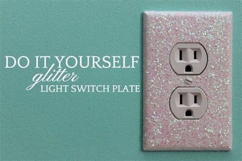 diy light switch covers glitter light switch plates and outlet covers glitter