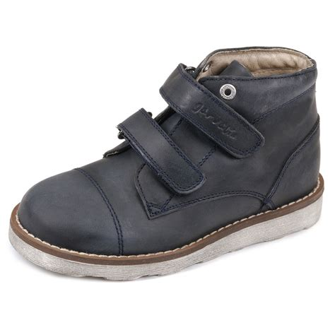 chaussures boots a lacets 30 uk c12 cuir bleu disley kickers gar 231 on fille neuf ebay