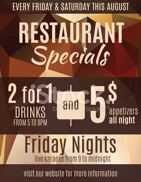 restaurant flyer advertisement template stock vector