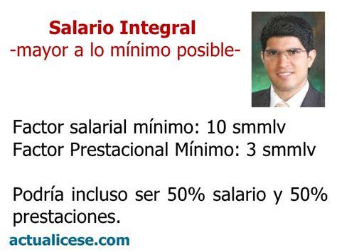 cuanto es el salario integral 2016 colombia newhairstylesformen2014 salario integral y factor prestacional colombia salario