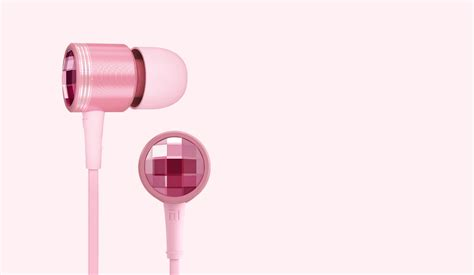 Xiao Mi In Ear Headphones Pink Made With Swarovski Mi In Ear Headphones Pink Mi Malaysia