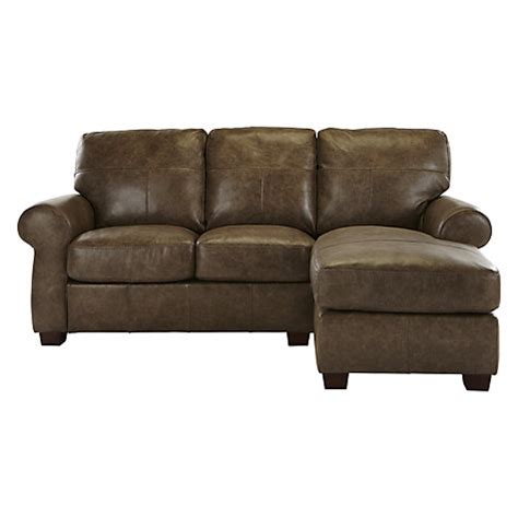 leather chaise end sofa buy john lewis hstead rhf top grain leather chaise end