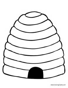Beehive Template by Beehive Coloring Pages Getcoloringpages