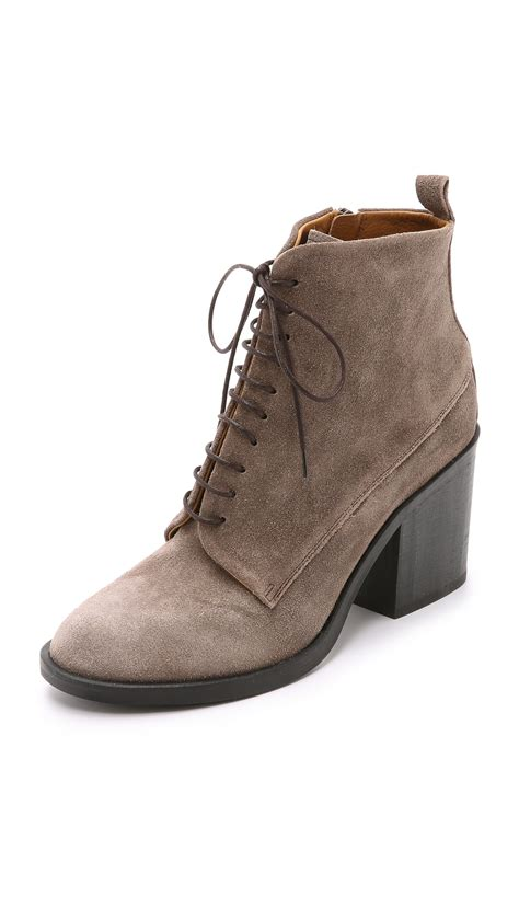 coclico vash lace up booties squirrel in brown lyst