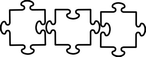 3 puzzle pieces template black and white jigsaw clip at clker vector clip