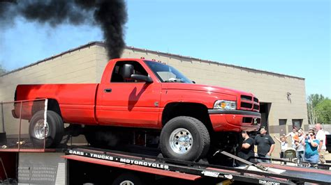 cummins truck 2nd gen red 2nd gen cummins dyno run youtube