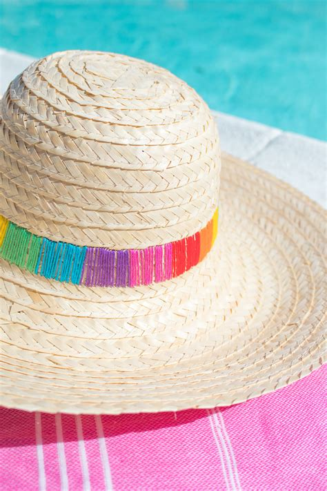 How To Make A Sun Hat Out Of Paper - diy embroidered sun hat club crafted
