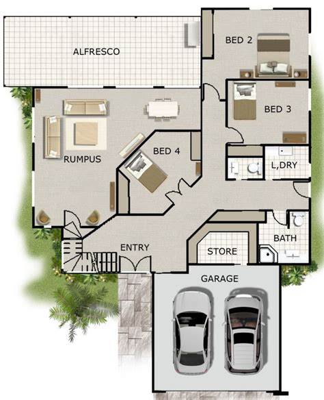 4 Bedroom Office Rumpus Rm Kit Home Designs Designs For Kit Homes