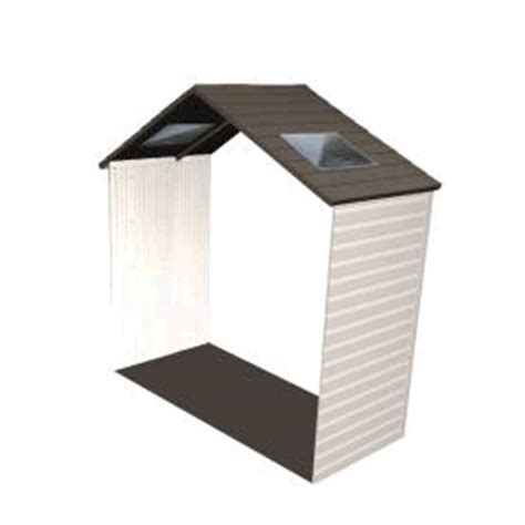 Lifetime Shed Extension by Lifetime 8 Storage Shed Extension Kit W Skylights