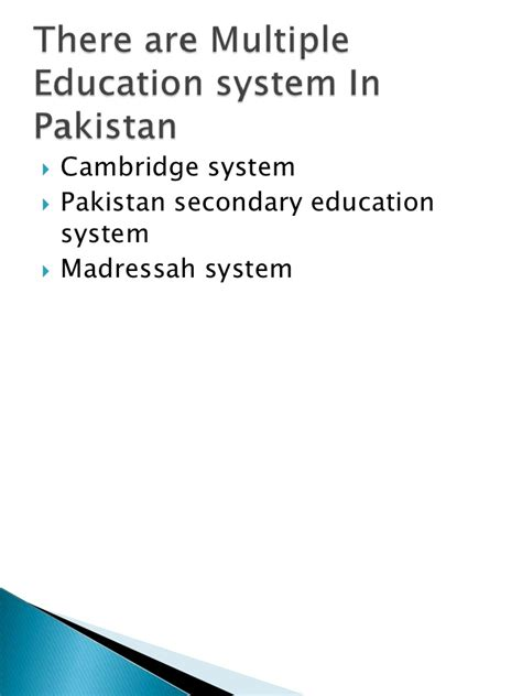 thesis on education system of pakistan education systems in pakistan