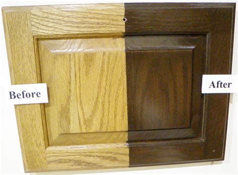 how to stain oak cabinets refinish oak cabinets darker roselawnlutheran