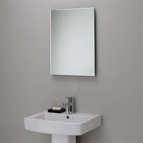 buy bathroom mirror online buy john lewis bevelled edge bathroom mirror h45 x w60cm