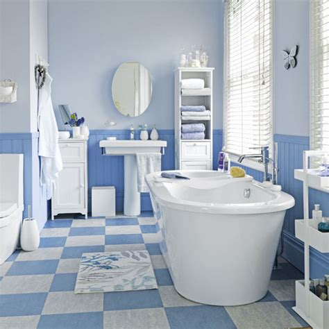 5 techniques to use blue color in bathroom tile design in