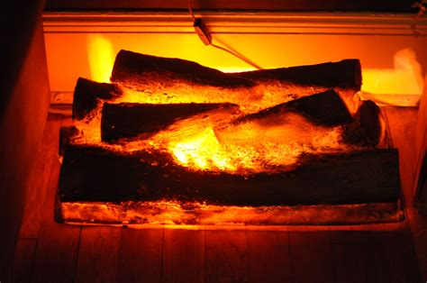 Vintage Faux Fireplace Log Light Fake Burning Logs By Lights In Fireplace