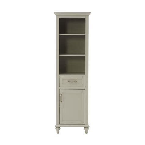 Linen Storage Cabinet Home Decorators Collection Charleston 20 In W Bathroom Linen Storage Cabinet In Grey 8255000270