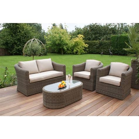 round sofa set round weave small sofa set by out there exteriors