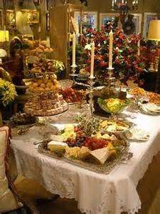 Buffet Table Food Display Ideas Christmas Tablescapes 49