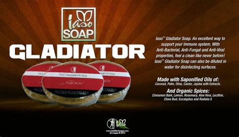 Iaso Gladiator Essential Oils Soap   Total Life Changes