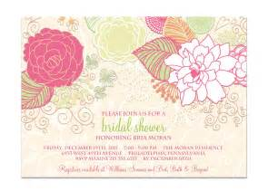 bridal shower invitation shabby chic floral by digibuddhapaperie