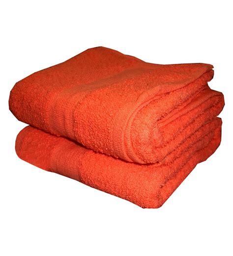 orange towels bathroom blessings pitch orange bath towels set of 2 by blessings