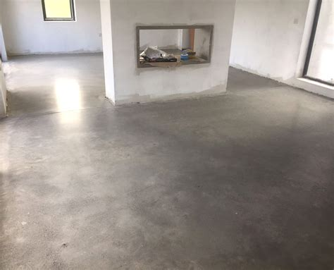 How To Finish Cement Floor by Polished Concrete Floor With Bronze Gold Finish P Mac