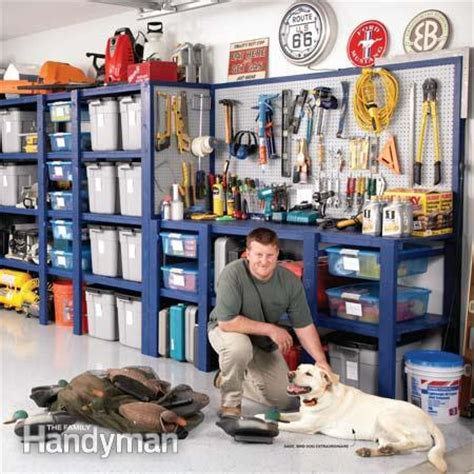 Garage Storage Ideas Handyman Building A Garage Storage Wall The Family Handyman