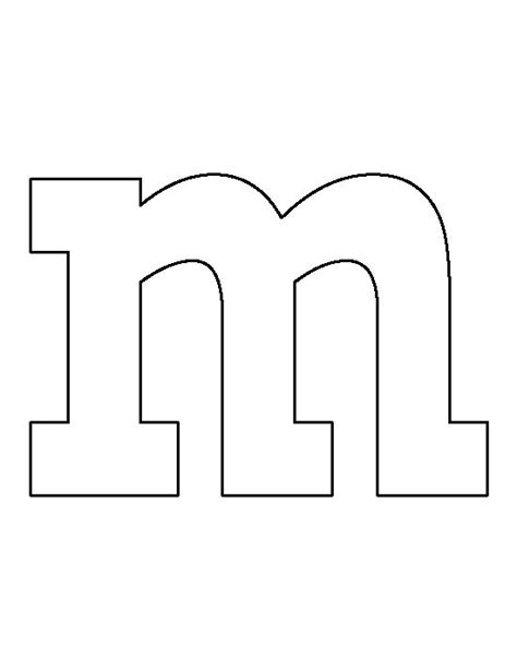 m m logo template lowercase letter m pattern use the printable outline for