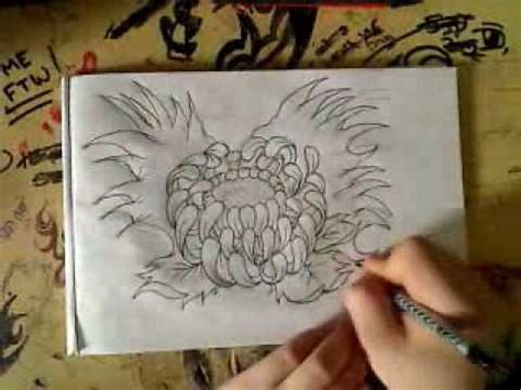 japanese flower drawing youtube