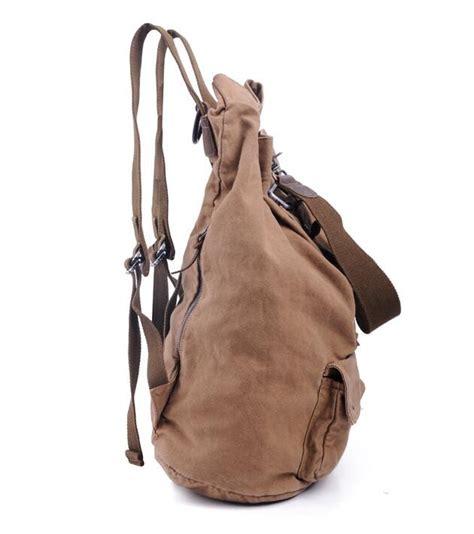 Fashion Casual Backpack Khaki casual khaki canvas backpack genuine leather canvas