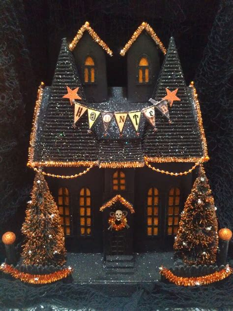 ooak light up halloween like department 56 putz haunted