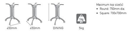 classic ctb dining base medium tabletops furniture