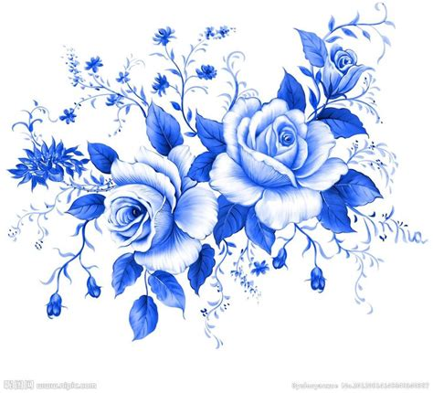 blue rose clipart dutch pencil and in color blue rose