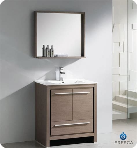 30 modern bathroom vanity fresca allier 30 quot modern bathroom vanity grey oak finish