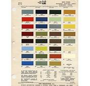 1972 Mustang Paint Chip Card With Mixing Codes