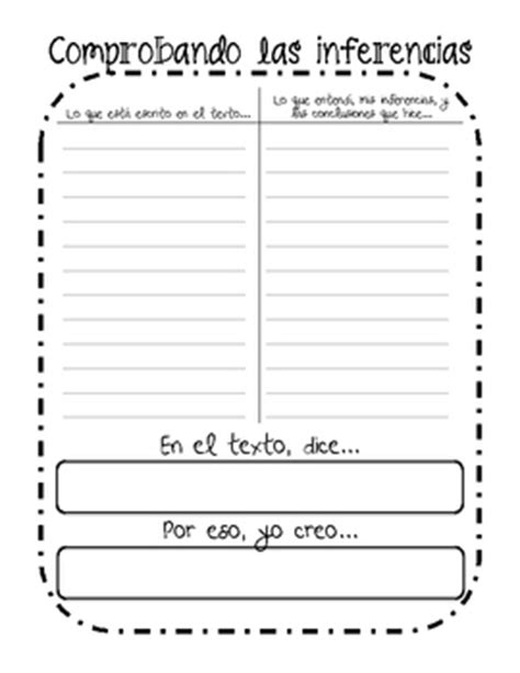 BILINGUAL Reading Graphic Organizers by Caroline Sweet | TpT