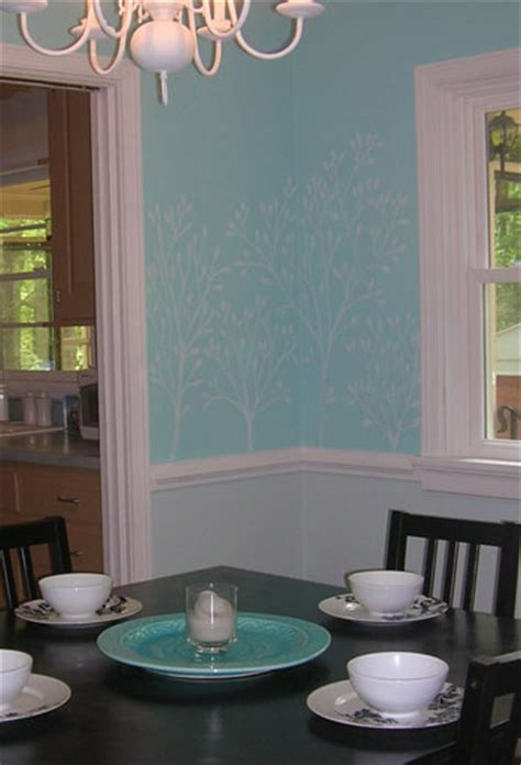 drew leafy branches dining room wall chalk instant texture fun heres