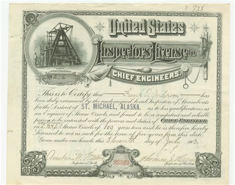 steamboat inspection service steamboat inspection service engineers licenses 1896