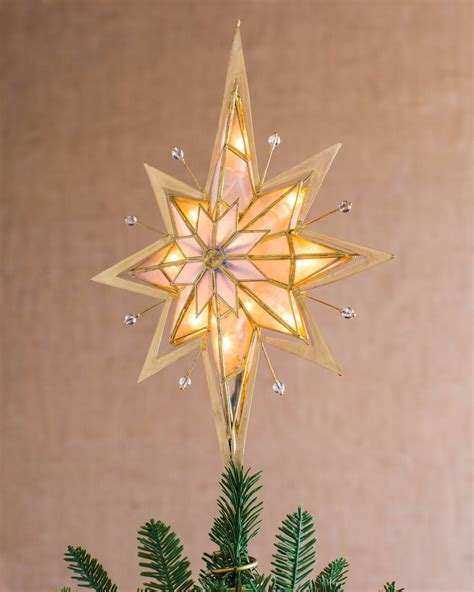 pre lit bethlehem star tree topper balsam hill