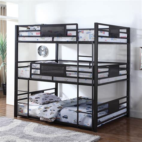 Coaster Bunks 460394f Metal Full Triple Bunk Del Sol Furniture Bunk Beds