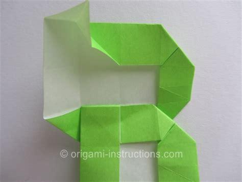 Origami Letter L - origami alphabet