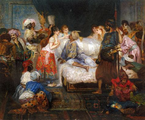 Ottoman Concubine The Harem Fernand Piestre Cormon Arab Harem In And Painting