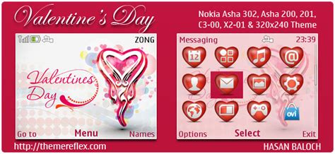 new valentine themes special theme valentine s day themes for nokia series 40