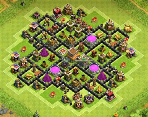 layout coc th8 top 53 best th8 bases war farming trophy hybrid
