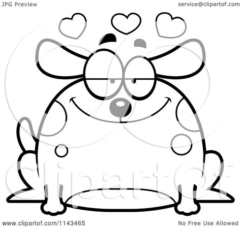 chubby puppies coloring pages cartoon clipart of a black and white chubby infatuated dog