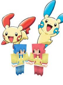 minun guy papercraft included minecraft skin