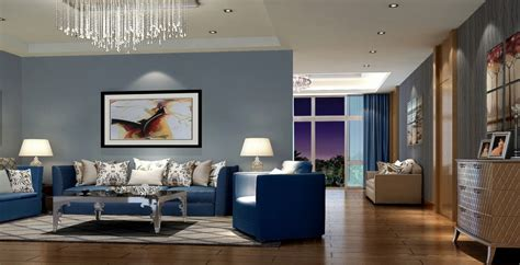 interior furnishing modern living room interior decorating ideas with blue