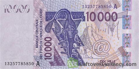 currency converter fcfa to usd 10000 francs banknote west african cfa exchange yours