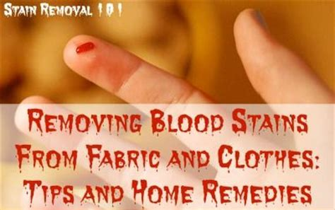 Remove Blood From Upholstery by Removing Blood Stains Stains And Blood On