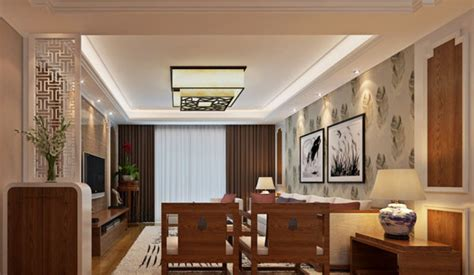 Designer Bathroom Light Fixtures by New Chinese Style Living Room Suspended Ceiling Design