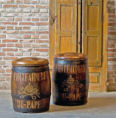 the barrel room vintage wine chateauneuf du pape vintage style wine barrel leather